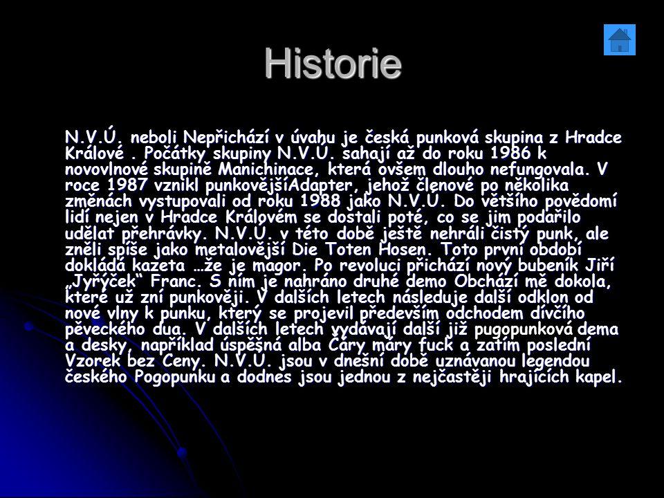 Historie N.V.Ú. neboli Nepřichází v úvahu je česká punková skupina z Hradce Králové. Počátky skupiny N.V.Ú. sahají až do roku 1986 k novovlnové skupin