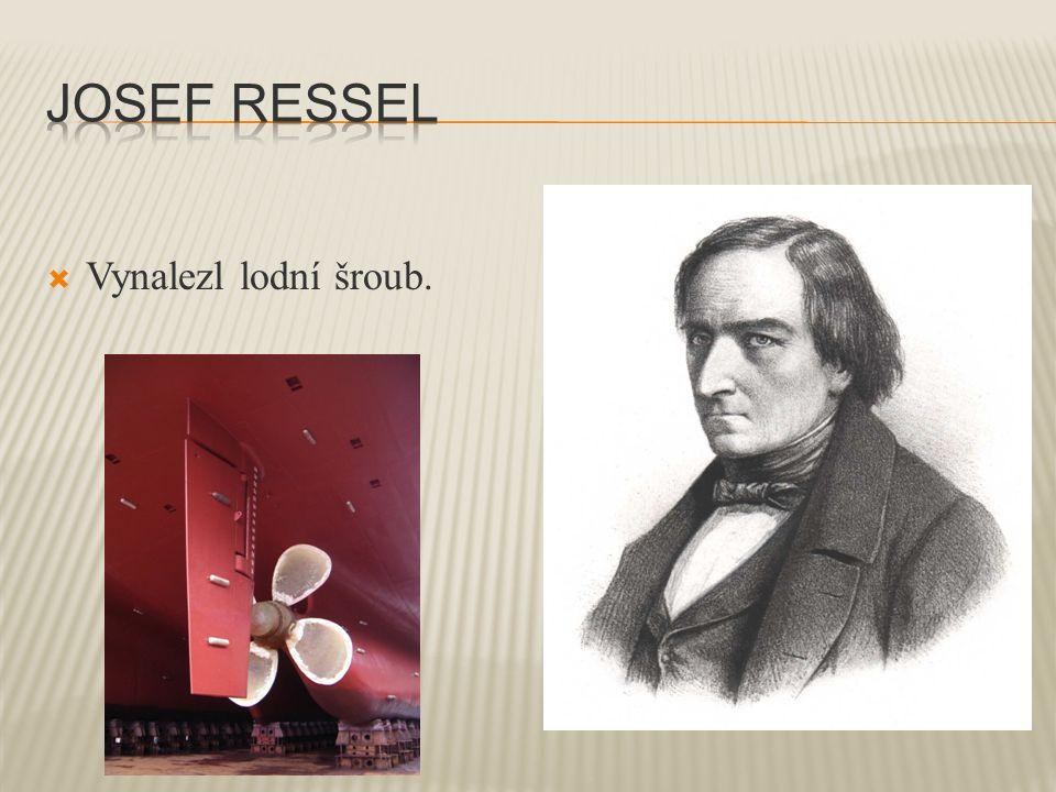  Vynalezl lodní šroub.