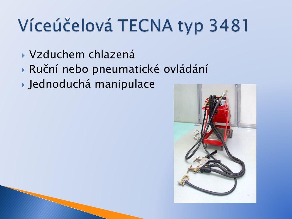  A-elektrody  B-upínání elektrod  C-ramena  S-tloušťka svářených materiálů  9-držák pohyblivého ramene  17-ukazatel síly stisku elektrod  18-nastavení síly stisku elektrod  24-tlačítko pro ovládání sváření  25-páka pro stisk elektrod  38-šroub pro připojení svářecích kabelů  43-držák pevného ramene  47-svářecí kabel  48-ovládací kabel
