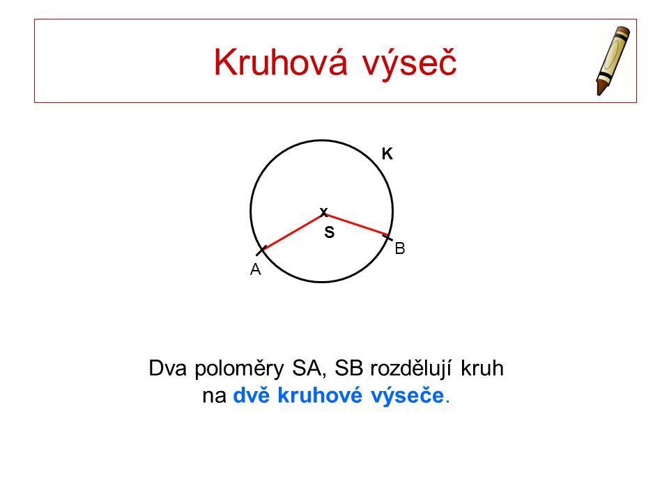 Kruhová úseč S x K A B Definice jako průnik dvou geometrických útvarů ?