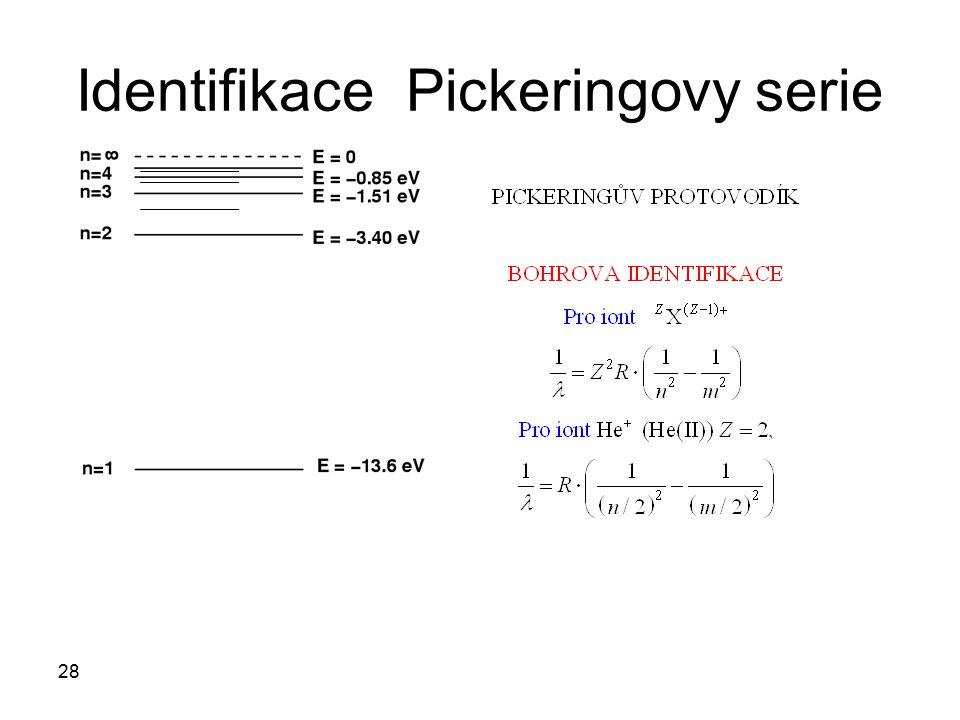 Identifikace Pickeringovy serie 28