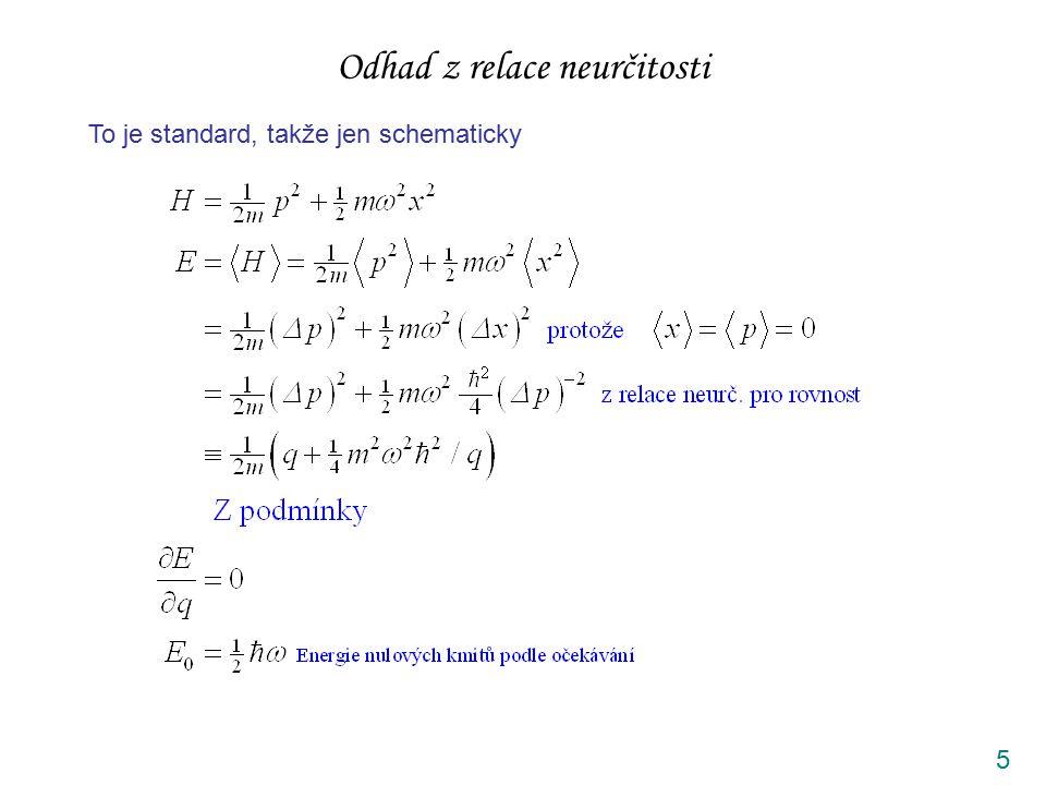 5 Odhad z relace neurčitosti To je standard, takže jen schematicky
