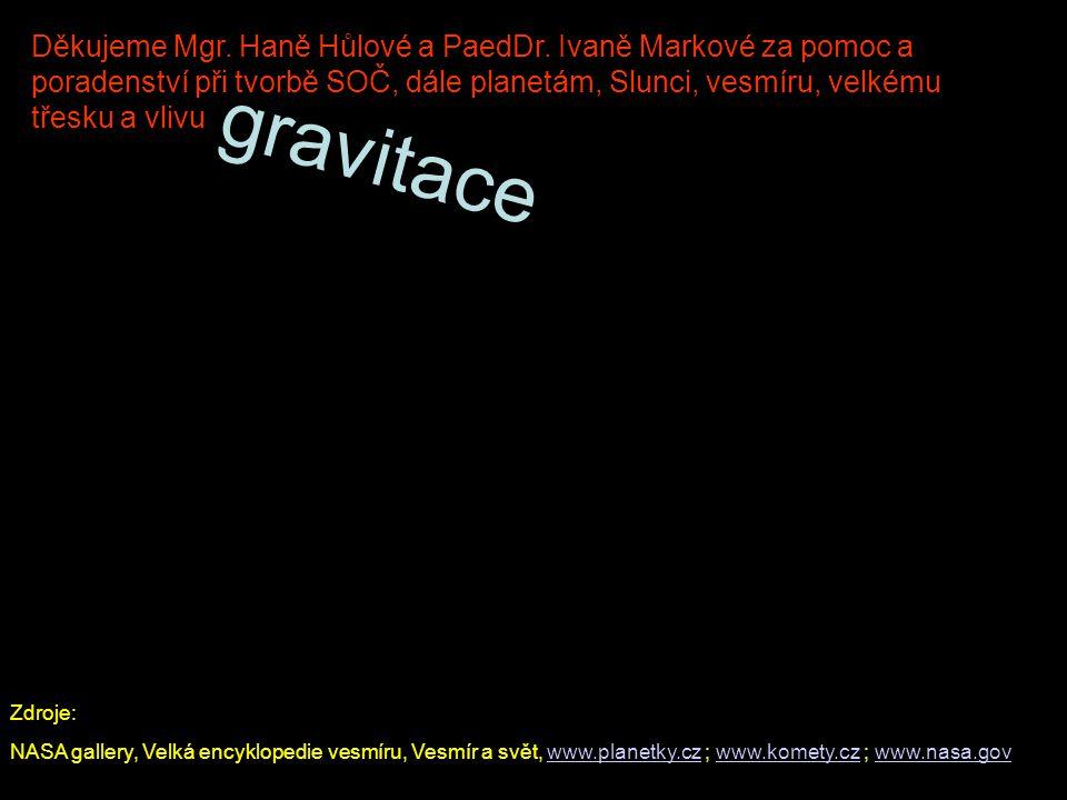 Zdroje: NASA gallery, Velká encyklopedie vesmíru, Vesmír a svět, www.planetky.cz ; www.komety.cz ; www.nasa.govwww.planetky.czwww.komety.czwww.nasa.go