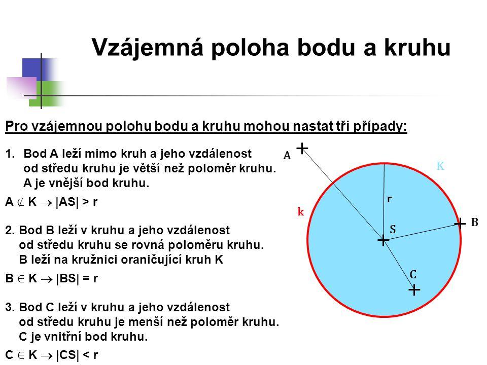Kružnice a kruh 1.Sestrojte kružnici k (S; r = 3 cm).