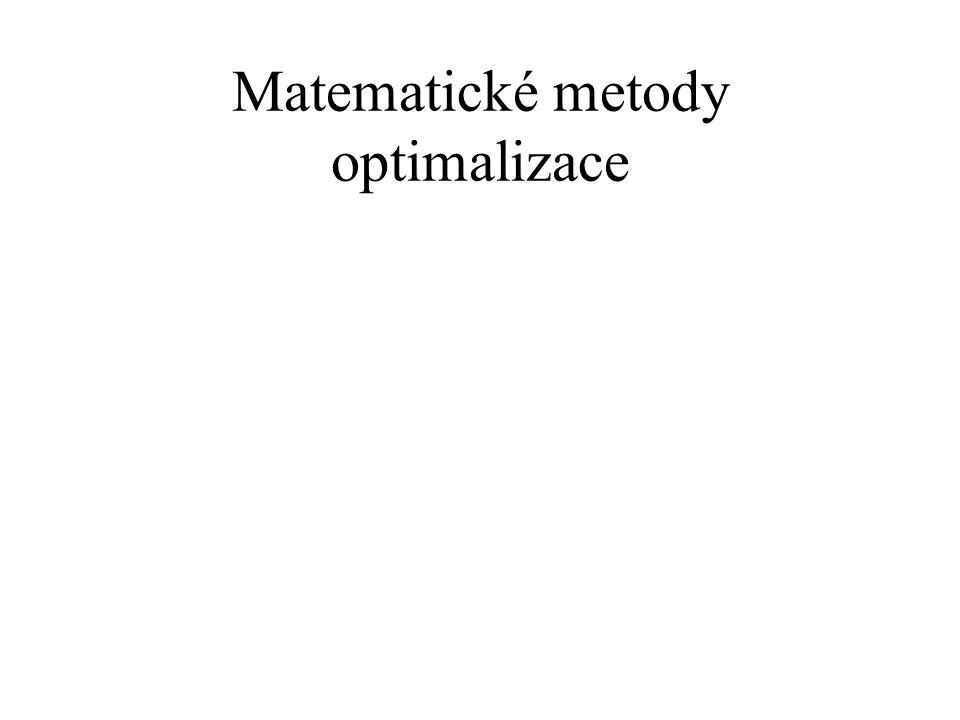 Matematické metody optimalizace