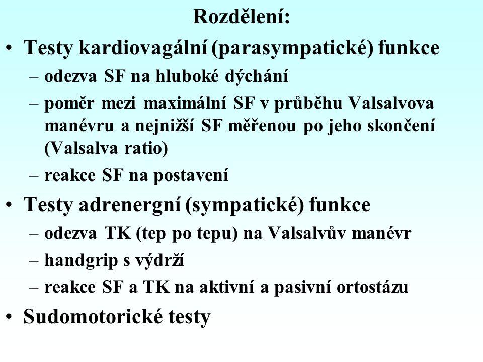 ORTOSTATICKÉ TESTY Schellongův test Test na nakloněné rovině