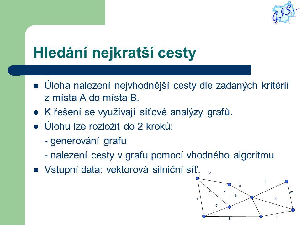 Uvedení do praxe Několik dílčích úloh: 1) Výběr vhodných dat => StreetNet.