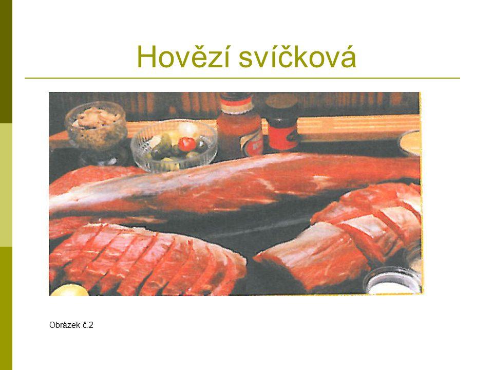 Dvojitý biftek Chateaubriand (šatóbrian)  Připravené porce masa o hmotnosti 400 – 500 g lehce naklepeme (hřbetem ruky nebo prsty),  můžeme protýkat nudličkami slaniny,  okořeníme hrubě mletým pepřem, potřeme olejem a necháme 30 min.