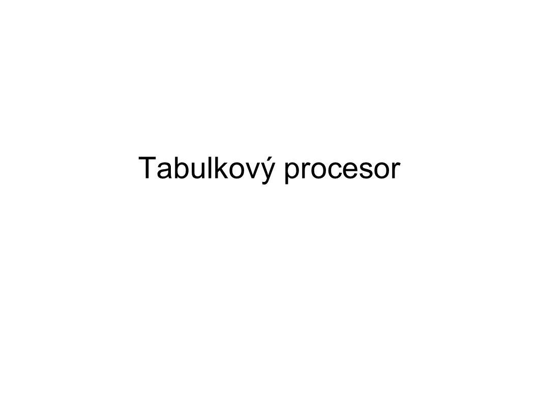 Tabulkový procesor pokročilé funkce filtrování a řazení dat formuláře podmínky a podmíněné formátování export a import dat