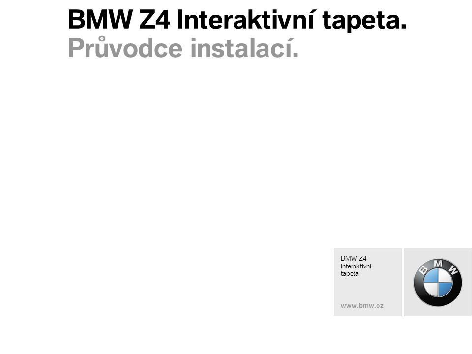 BMW Z4 Interactive Wallpaper www.bmw.xx BMW Z4 Interaktivní tapeta.