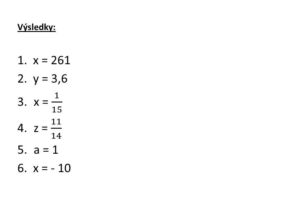 Výsledky: