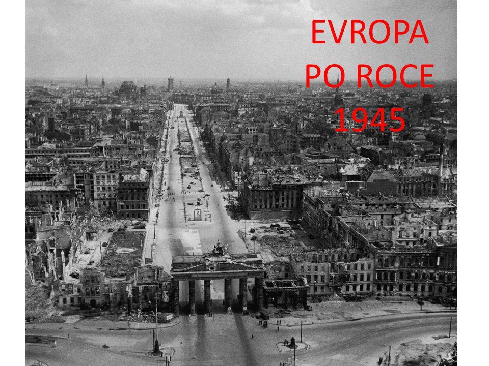 KONFERENCE V POSTUPIMI 1945 Uspořádání Evropy a Německa Velká trojka USA (H.