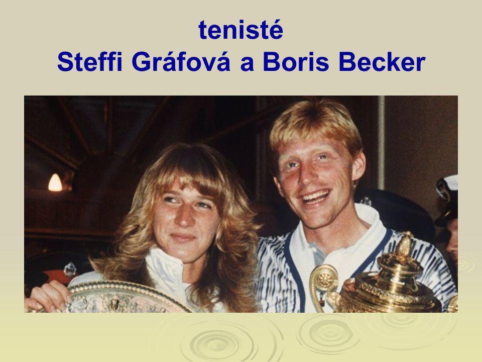 tenisté Steffi Gráfová a Boris Becker