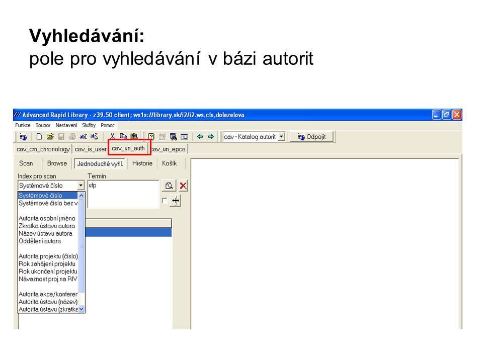 v ZF se přepnu na uživatelský kliknu na * u Zdrojového dokumentu