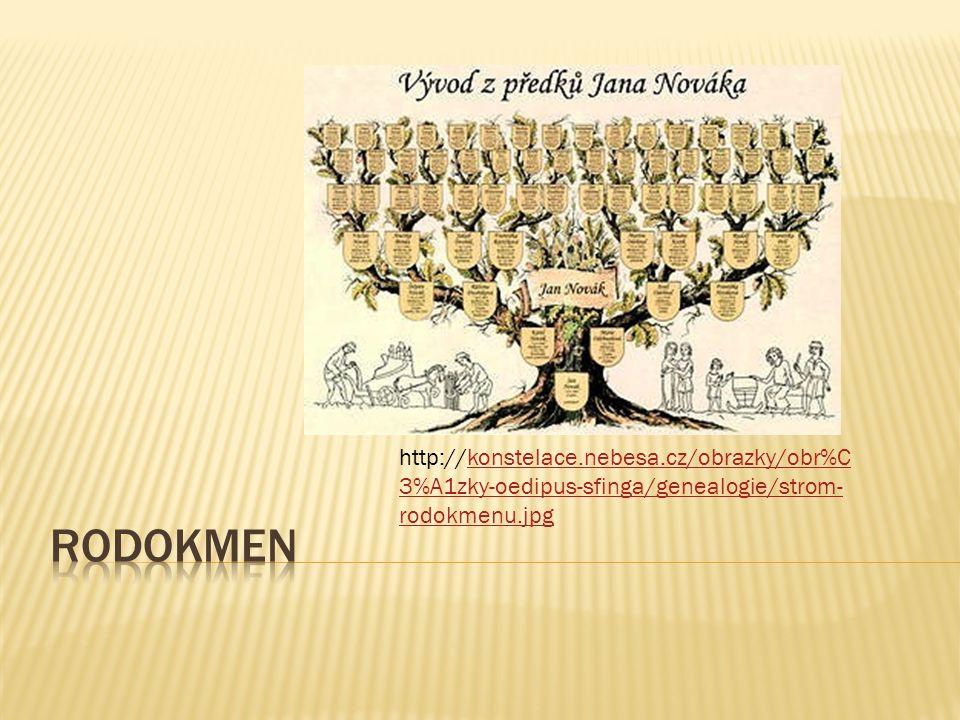 O Název Rodokmen O Šablona CZ.1.07/1.4.00/21.2698 O Poř.číslo O Autor šablony Mgr. Zuzana Vyhnálková DiS O Datum