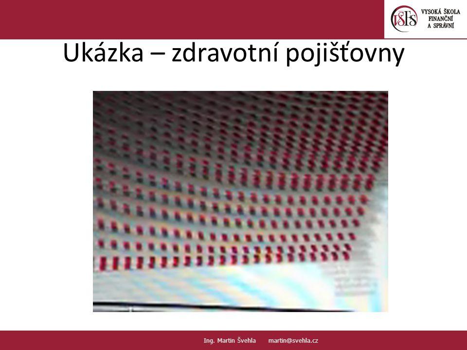 Ukázka – zdravotní pojišťovny 3.3. PaedDr.Emil Hanousek,CSc., 14002@mail.vsfs.cz :: Ing. Martin Švehla martin@svehla.cz