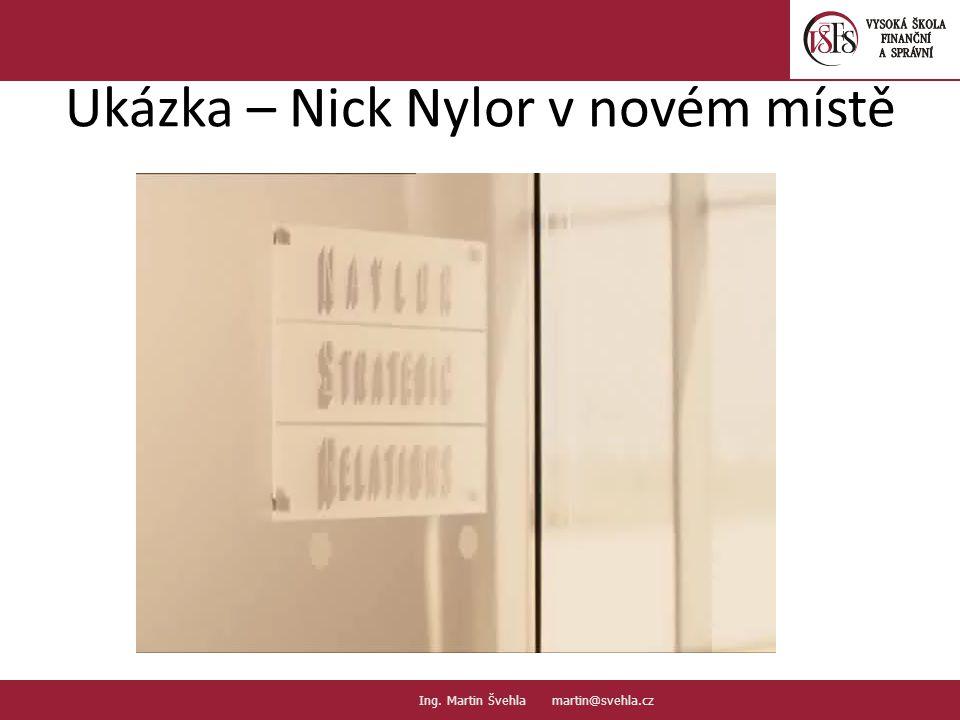 Ukázka – Nick Nylor v novém místě 4.4. PaedDr.Emil Hanousek,CSc., 14002@mail.vsfs.cz :: Ing. Martin Švehla martin@svehla.cz