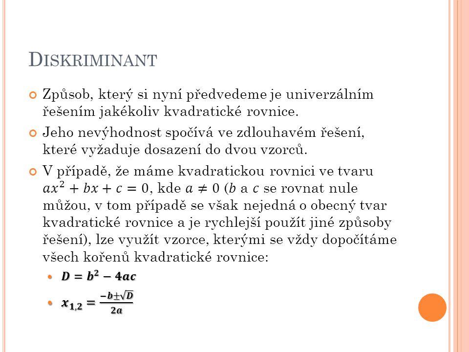 D ISKRIMINANT