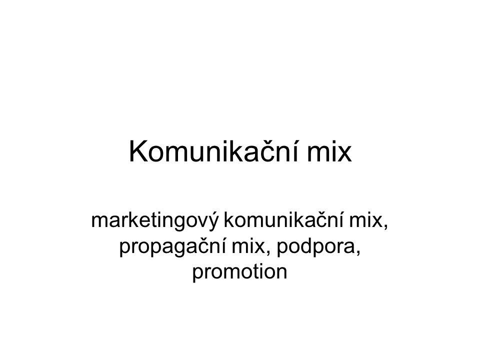 Komunikační mix marketingový komunikační mix, propagační mix, podpora, promotion