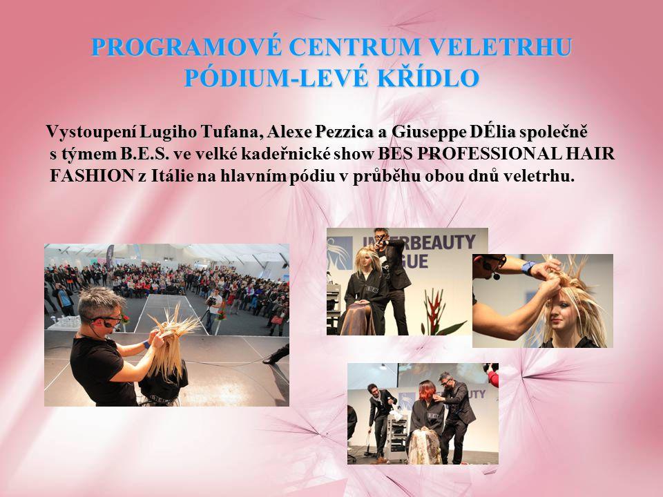 ODBRONÝ SEMINÁŘ PRO KADEŘNÍKY za hlavním pódiem Na shodné téma BES Professional Hair Fashion vedli italští stylisté a showmani i odborný seminář pro kadeřníky z celé České republiky, kterého se zúčastnilo přes 1 000 odborných návštěvníků..