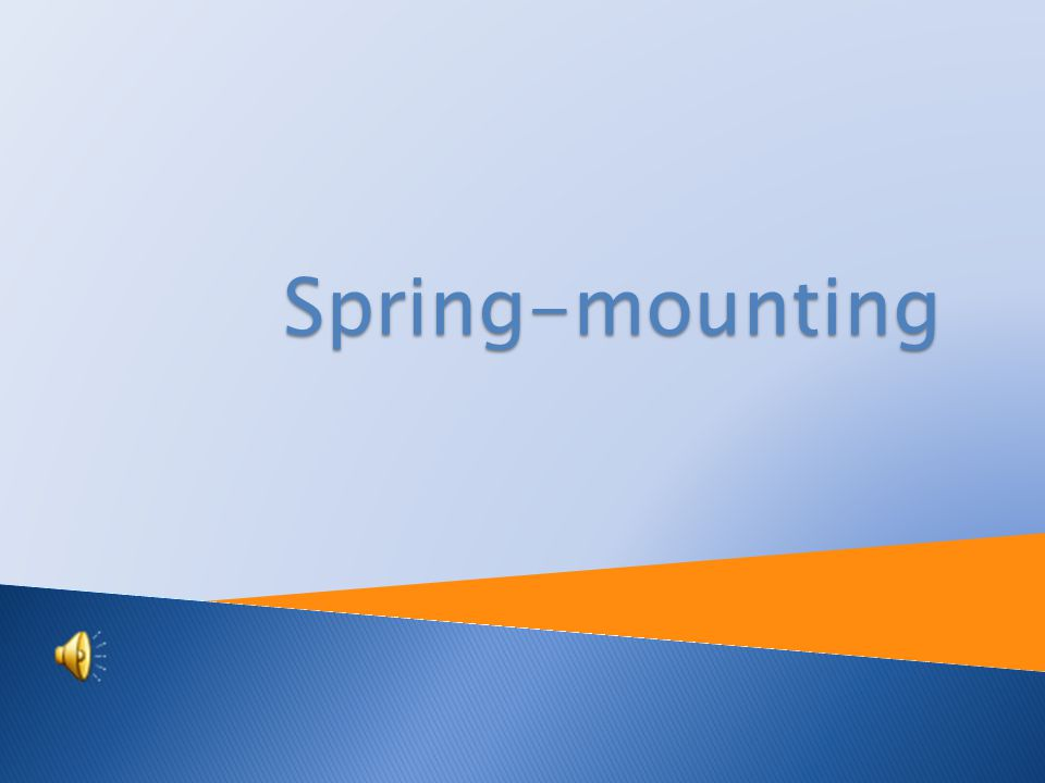 Tutorial: Physics Topic: Spring-mounting Prepared by : RNDr.