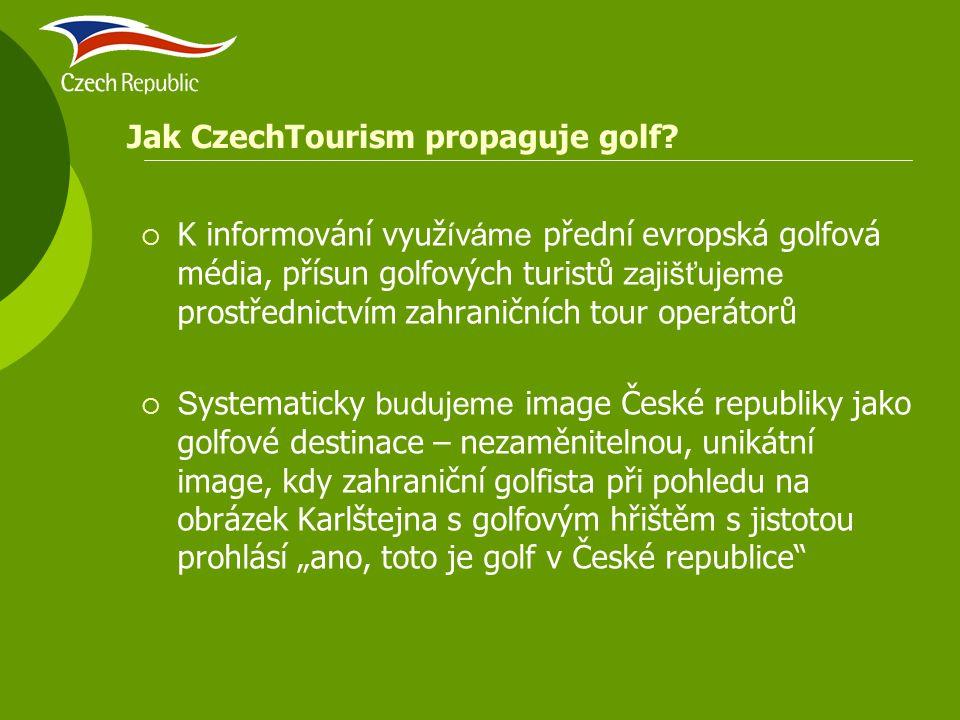  K informování využ íváme přední evropská golfová média, přísun golfových turistů zajišťujeme prostřednictvím zahraničních tour operátorů  S ystemat