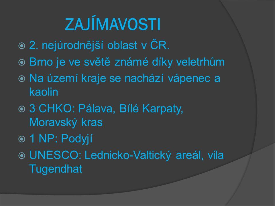 VODSTVO  Řeky: Morava, Dyje, Svratka, Svitava  Nádrže: Nové Mlýny, Vranov a Brněnská přehrada