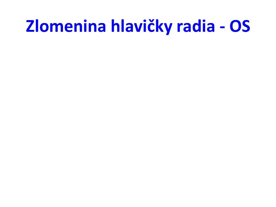 Zlomenina hlavičky radia - OS