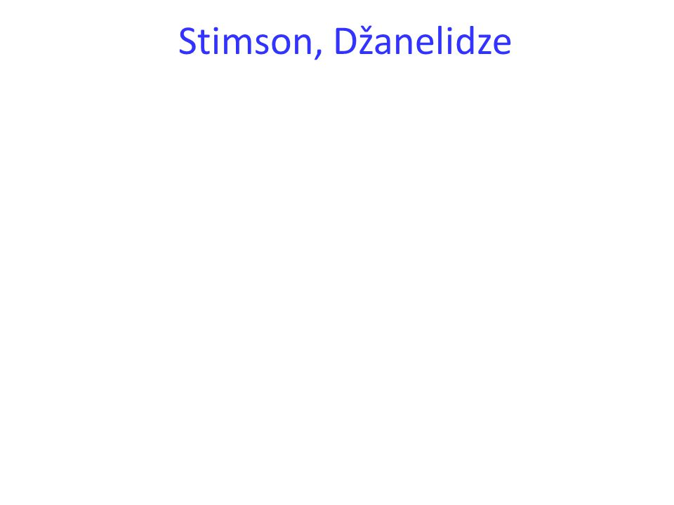 Stimson, Džanelidze