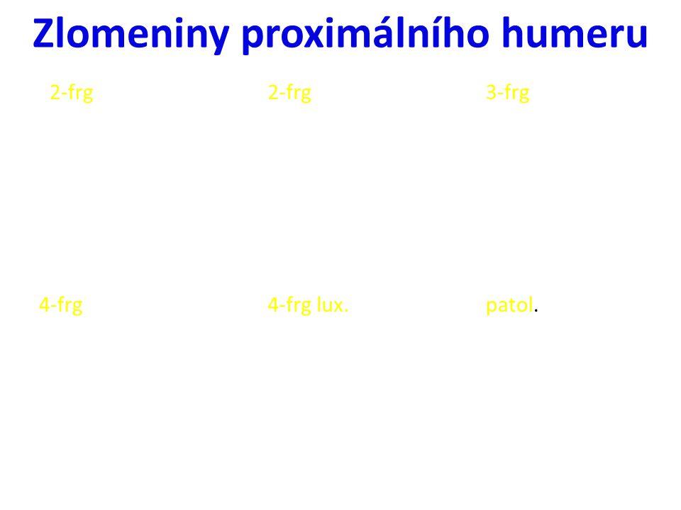 4-frg lux. 3-frg2-frg patol. 2-frg 4-frg Zlomeniny proximálního humeru