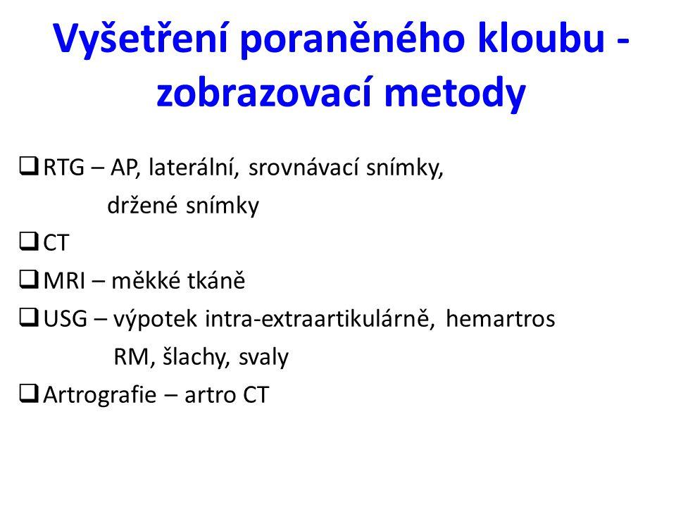 Léčba zlomenin lopatky Konzervativní - závěs - Desaultův obvaz - ortéza Operační - intraartikulární zlomeniny