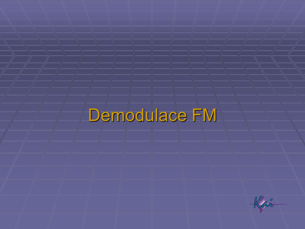 Demodulace FM