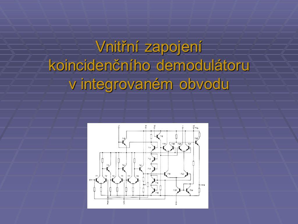 Vnitřní zapojení koincidenčního demodulátoru v integrovaném obvodu