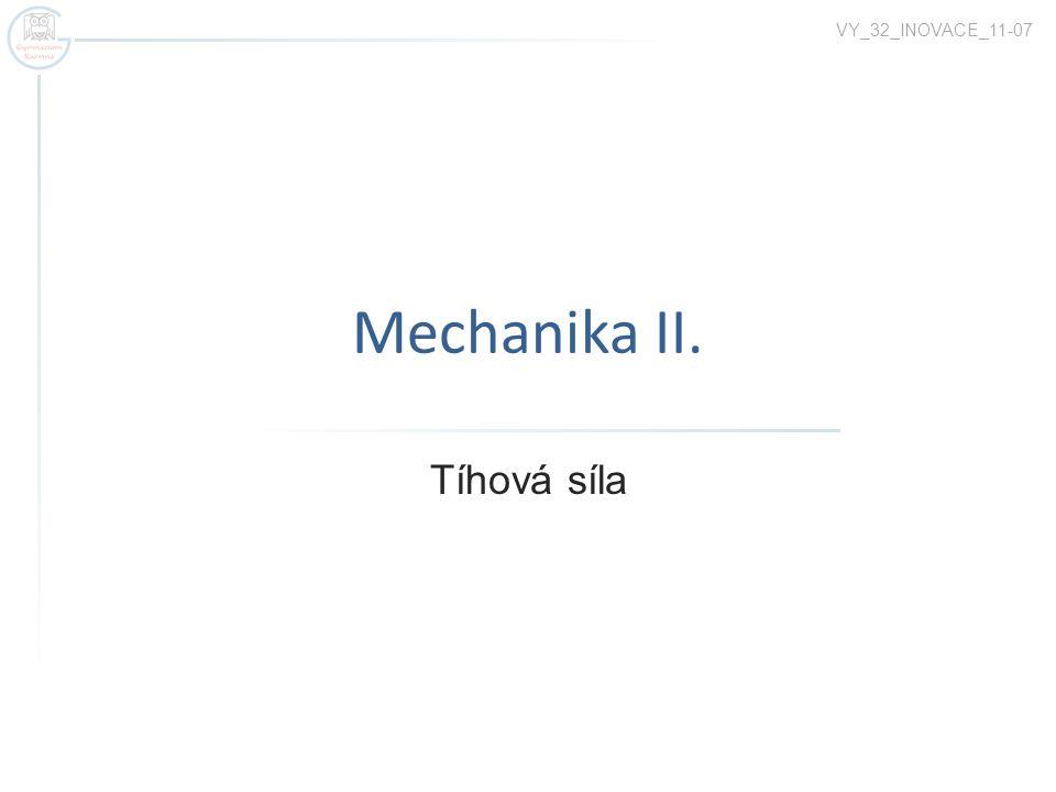 Mechanika II. Tíhová síla VY_32_INOVACE_11-07