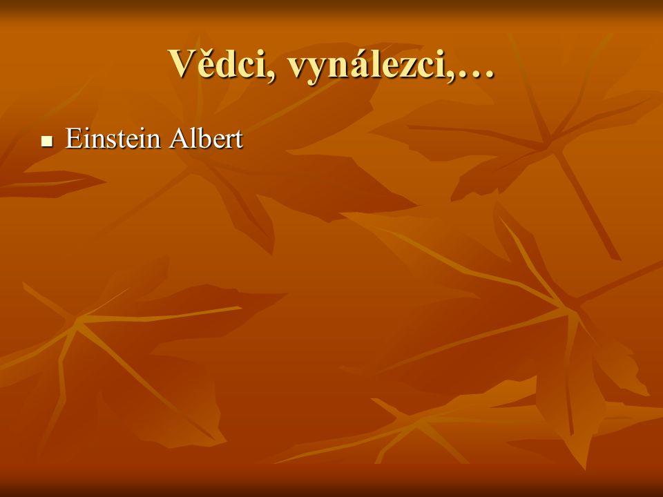 Vědci, vynálezci,… Einstein Albert Einstein Albert