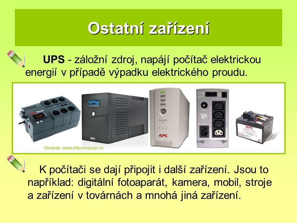 Poznej zařízení na obrázku a urči, zda se jedná o vstupní nebo výstupní zařízení.