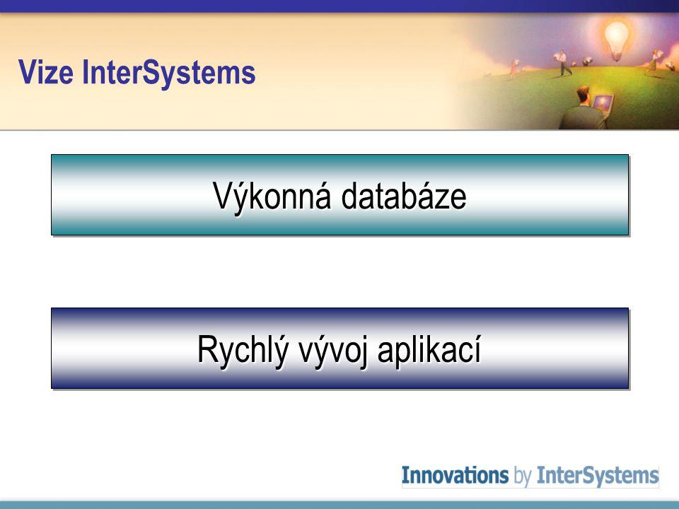 Vize InterSystems Výkonná databáze Rychlý vývoj aplikací