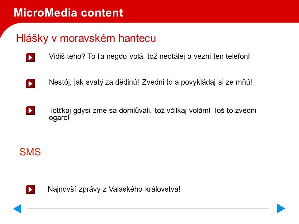 Hlášky v moravském hantecu MicroMedia content Vidiš teho.