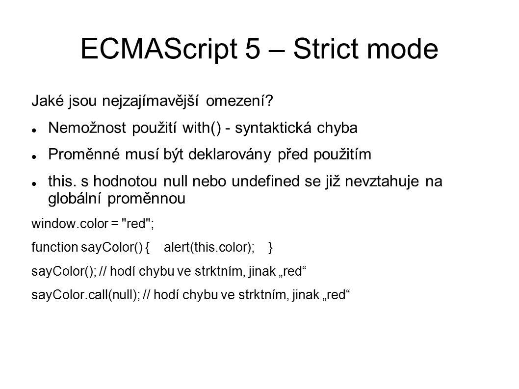 ECMAScript 5 – Strict mode this.