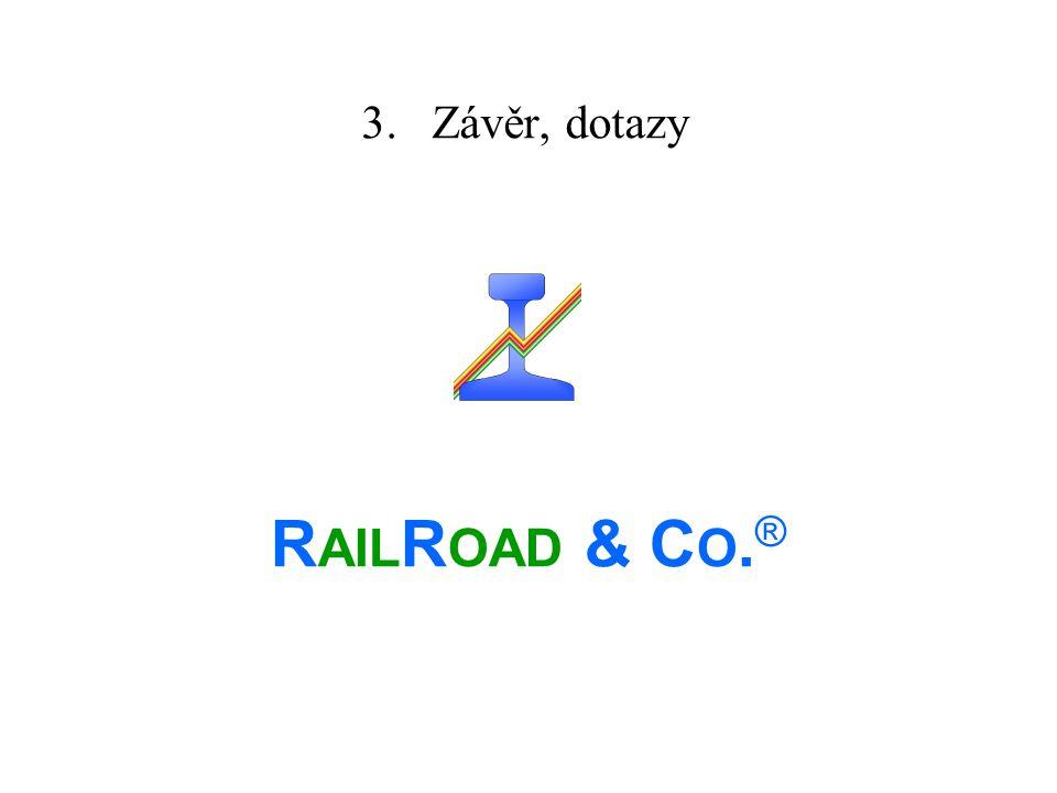 3. Závěr, dotazy R AIL R OAD & C O. ®