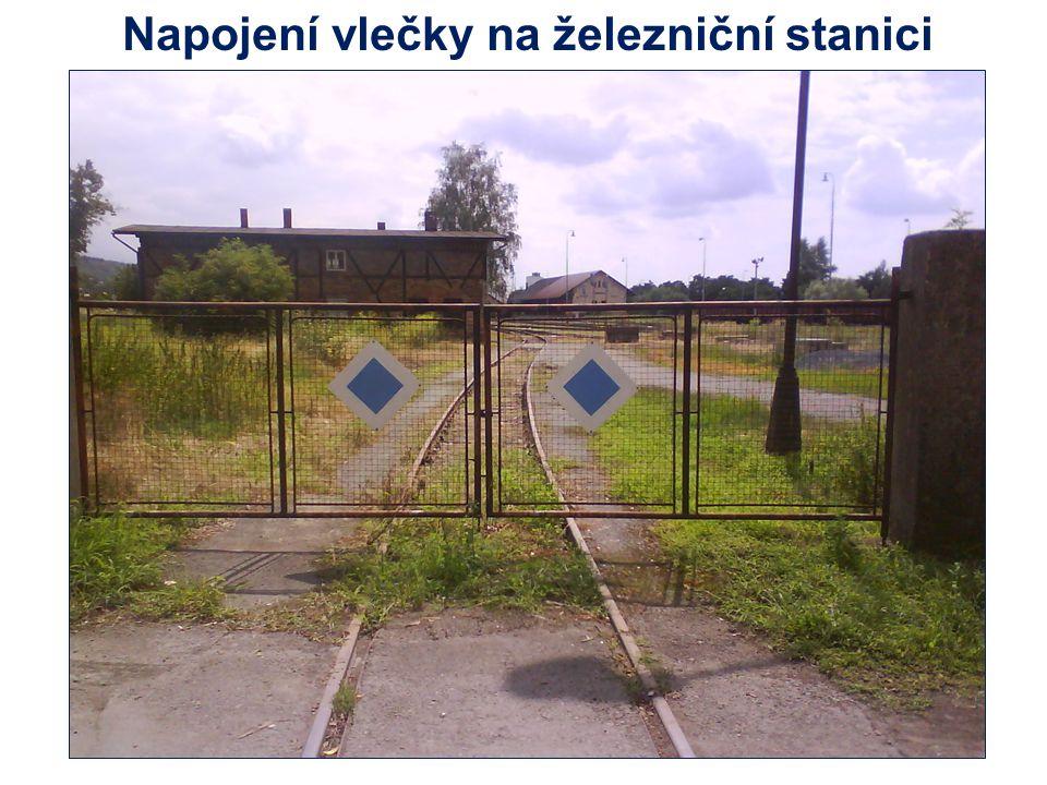 Napojení vlečky na železniční stanici