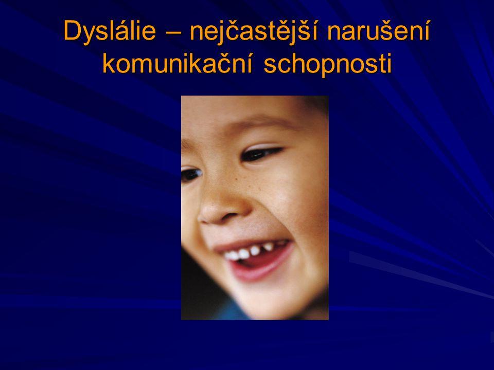 Dyslálie vadná výslovnost jedné nebo více hlásek mateřského jazyka je třeba diferencovat vadnou výslovnost (dyslálii) a nesprávnou výslovnost (fyziologickou dyslálii)