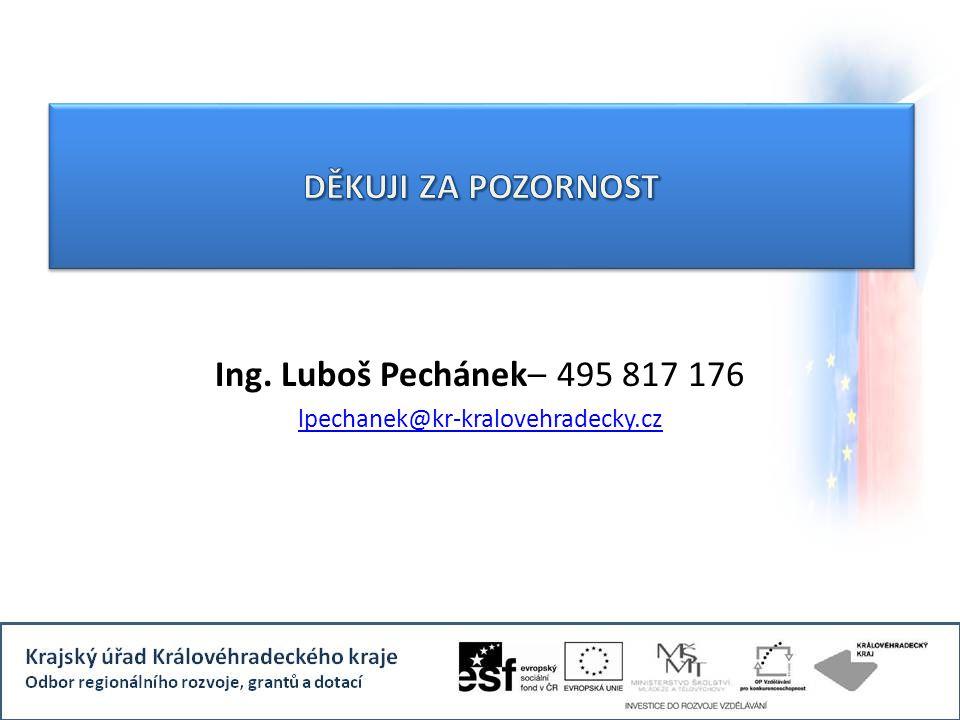 Ing. Luboš Pechánek– 495 817 176 lpechanek@kr-kralovehradecky.cz