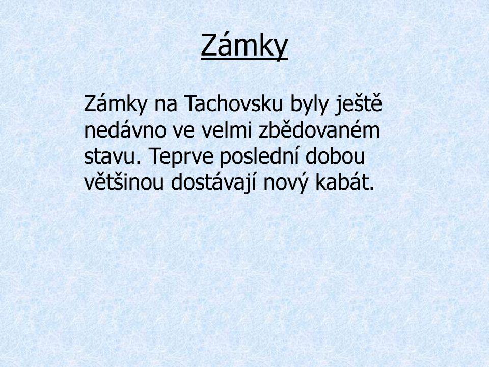 Zámky Zámky na Tachovsku byly ještě nedávno ve velmi zbědovaném stavu.