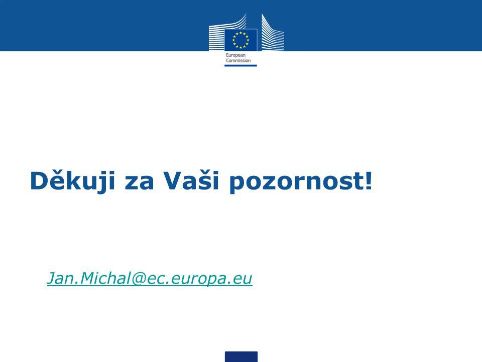 Děkuji za Vaši pozornost! Jan.Michal@ec.europa.eu