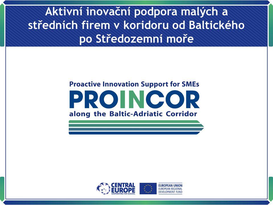 Aktivní inovační podpora malých a středních firem v koridoru od Baltického po Středozemní moře