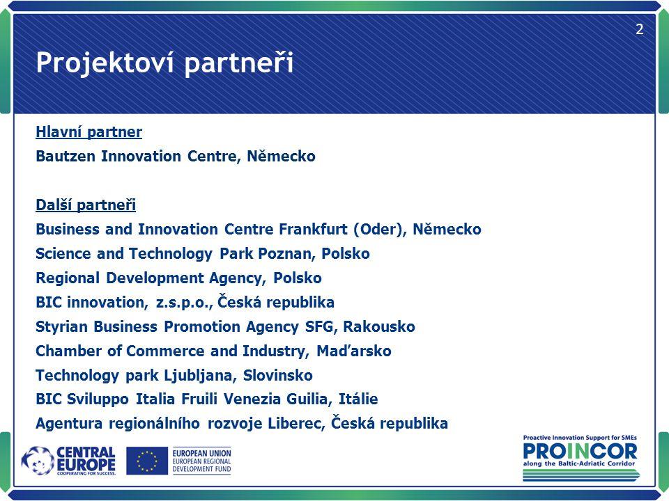 Stručný popis cílů PROINCOR se soustředí na inovační aktivity podnikatelů, na jejich potřeby a překážky.