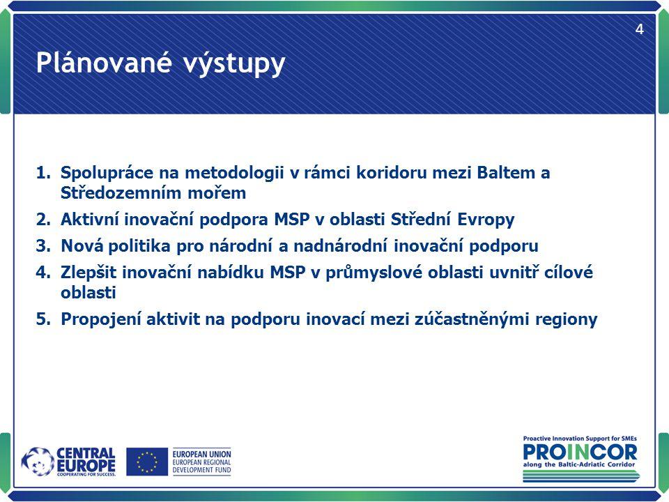 Popis úlohy BIC innovation v projektu Identifikace výzkumných aktivit v nových technologických oblastech s cíli regionální politiky JMK (a kraje Vysočina), koordinace inovačních projektů, aktivní inovační podpora business clubů, workshopů a výstav.