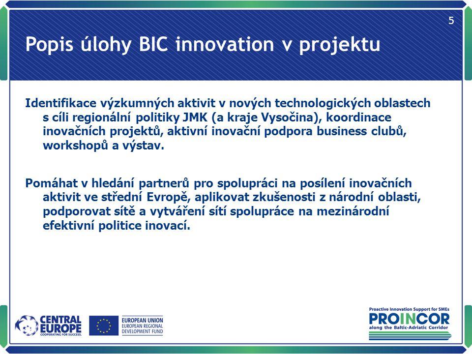 V rámci BIC innovation se na projektu podílí Ing.Vít Hřiba – regionální projektový manažer Ing.