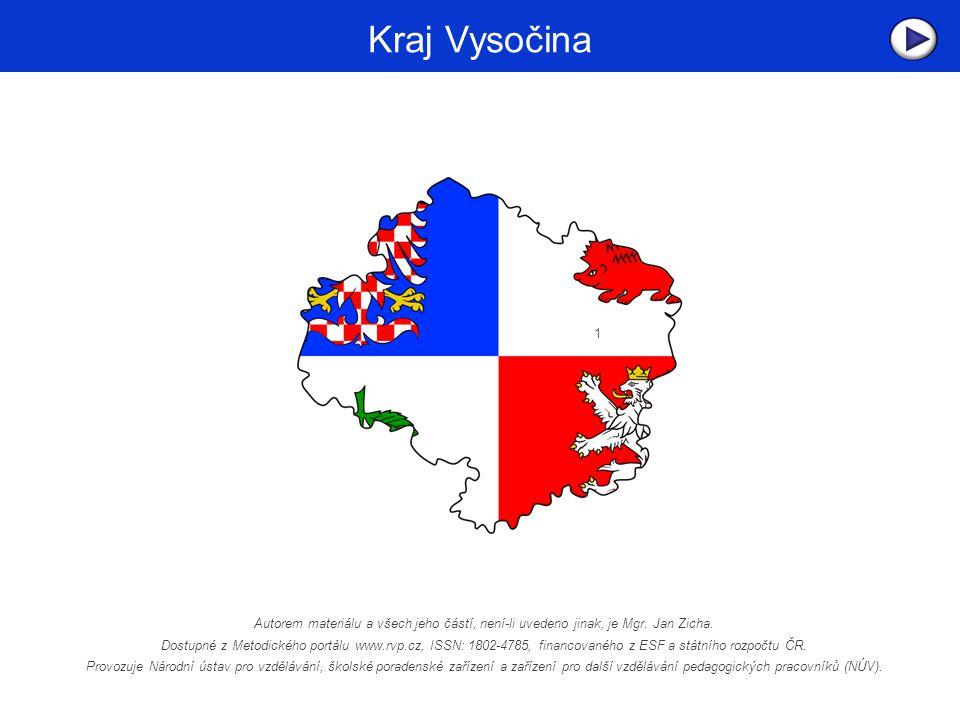 Kraj Vysočina Název Kraje Vysočina souvisí se skutečností, že se tento správní celek rozkládá na podstatné části Českomoravské vrchoviny, vyvýšené zvlněné krajiny mezi oběma historickými zeměmi České republiky.